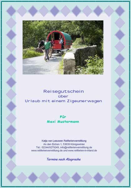 Reitferien in Irland: Geschenkgutscheine für Reiter